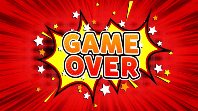 Game Over Text Pop Art Style Comic Expression.