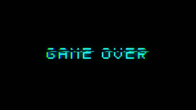 vídeos de stock, filmes e b-roll de jogo sobre o texto com sinal ruim. efeito de falha - game