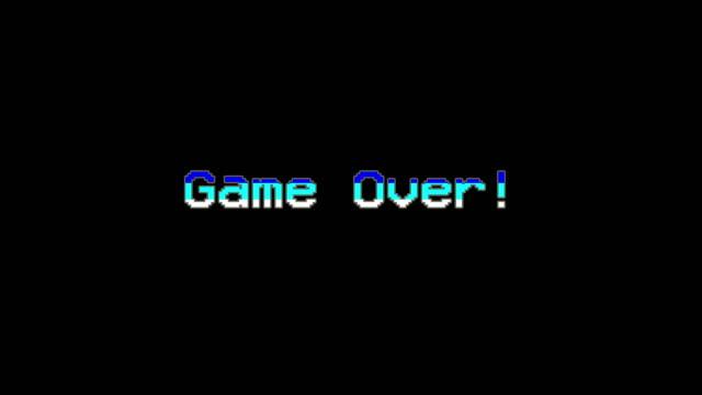 vídeos de stock e filmes b-roll de game over - video game menu - bit código binário