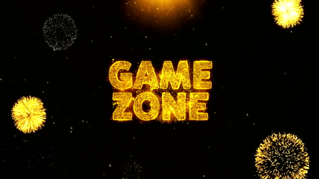 Game zone Text on Firework Display Explosion Particles. Game zone Text on Firework Display Explosion Particles. Sale, Discount Price, Off Deals, Offer promotion offer percent discount ads 4K Loop Animation. housing logo stock videos & royalty-free footage