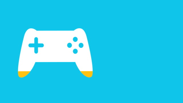 Gamepad shape filling up in colour 4k