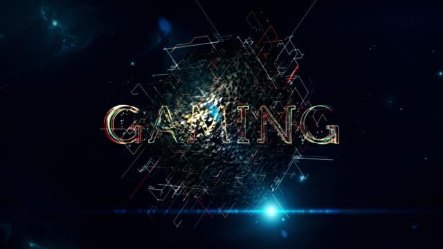 cubo di gioco - gioco d'azzardo video stock e b–roll