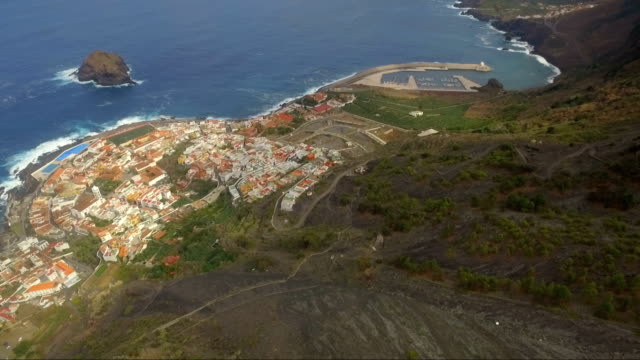 Garachico is a small town in the Atlantic Ocean in the north of Tenerife video