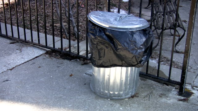 Garbage can. video