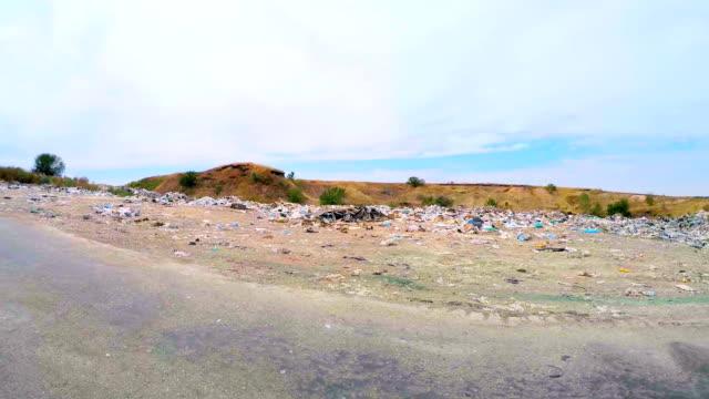 Garbage Dump Along Road In Ukraine video