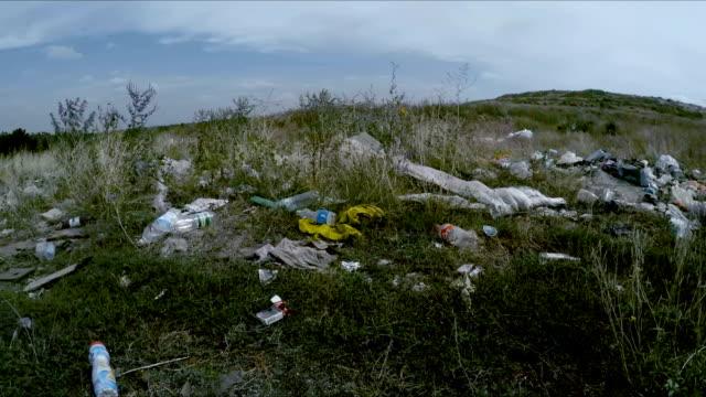 Garbage Dump Scattered Around Roadside In Ukraine video