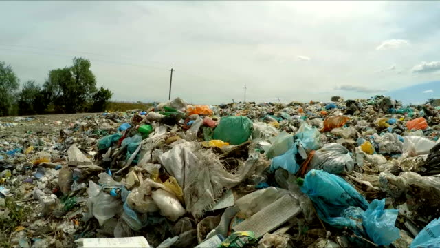 Garbage Dumped Into Huge Heap At Landfill In Ukraine video