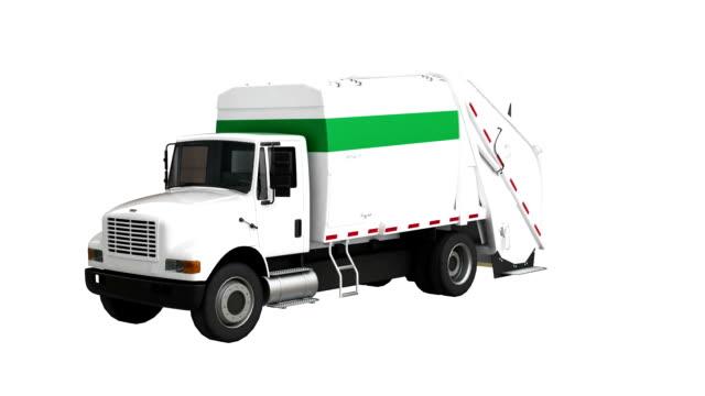 Camion à ordures spin avec luma matte - Vidéo
