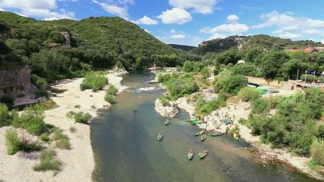 Gard river in Collias.  France
