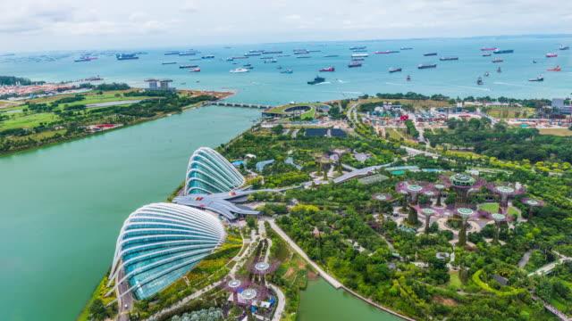 ogród przy zatoce, singapur - ogród formalny filmów i materiałów b-roll