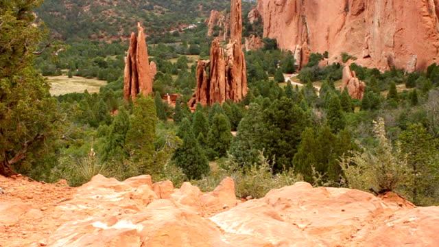 garden of the gods - red rock video stock e b–roll