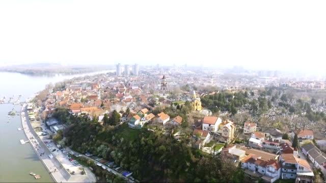 gardos tower, belgrade, serbia - serbia video stock e b–roll
