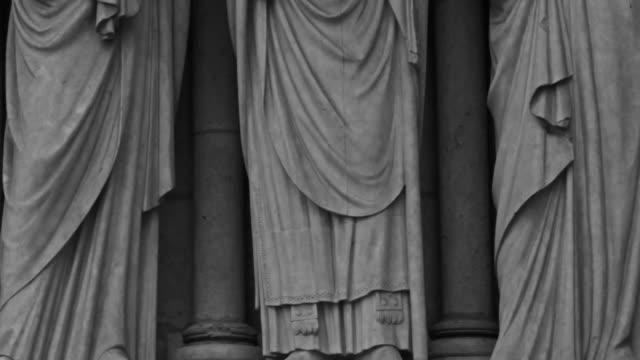 Gargoyle and Statue Details of Notre Dame de Paris, France video