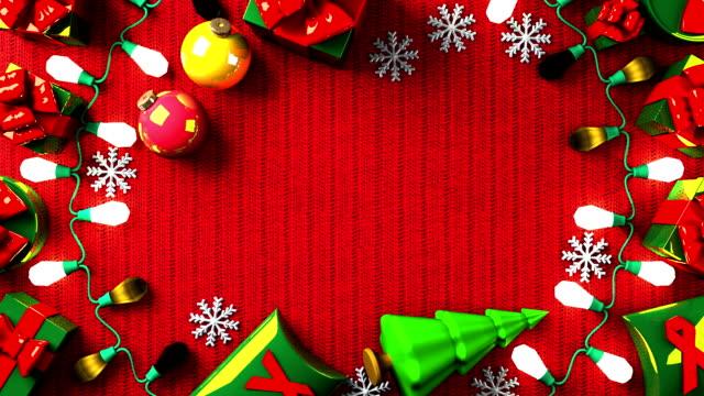 garland lights och jul nuvarande lådor - christmas decorations bildbanksvideor och videomaterial från bakom kulisserna