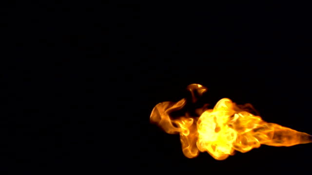 Gas flame - slow motion video