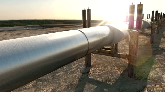 Gas Oil Pipeline with Natural Gas or Refinery Oil video