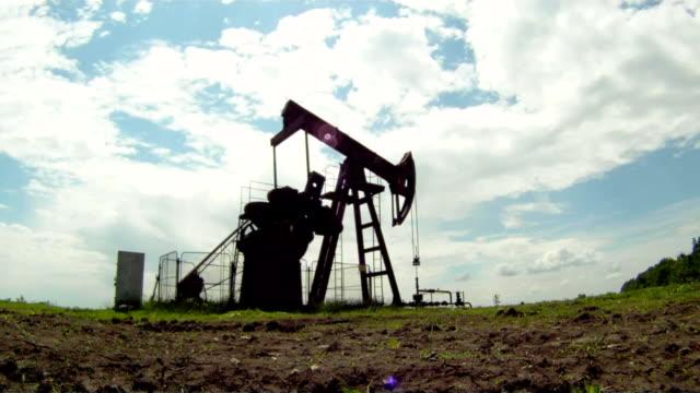 produzione di gas - leva video stock e b–roll