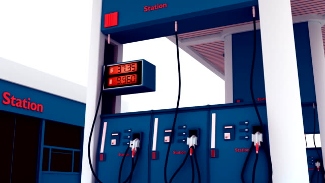 Gas Station Pump Counter - HD video
