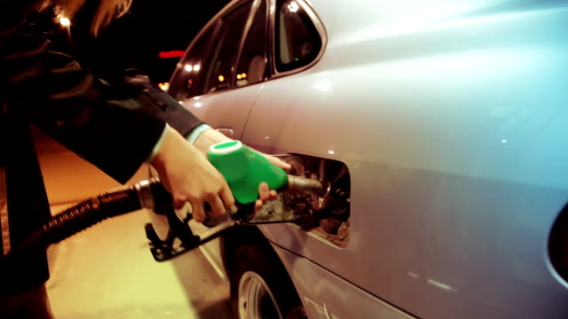 Gas station Filling the fuel in the gas station biofuel stock videos & royalty-free footage