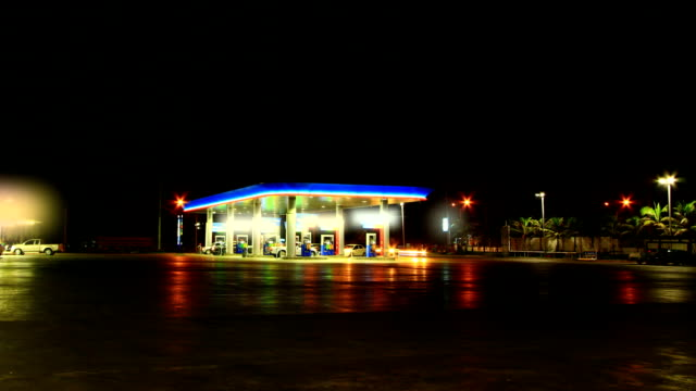 Gas station Gas station at night station stock videos & royalty-free footage