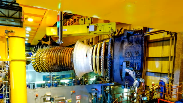 Gas turbine rotor installation in combine cycle powerplant