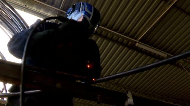 Gas welding metal construction video