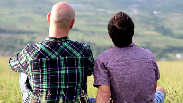 Gay couple in the park Gay couple in the park. gay man stock videos & royalty-free footage
