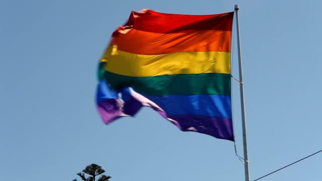 Bandeira do orgulho Gay de arco-íris em alta definição - vídeo