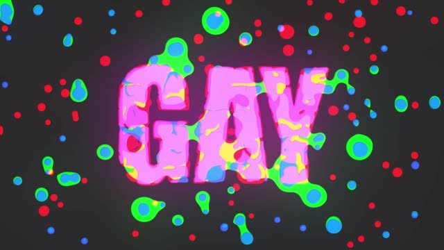 gay word colorful animated
