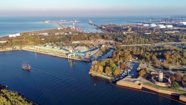 Gdansk, Poland. Northern Port and Dead Vistula River