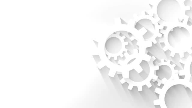 vidéos et rushes de fond de concept entreprise mécanisme à engrenages - rouage