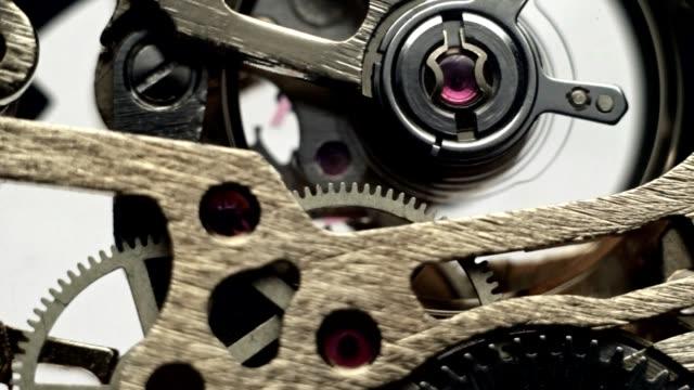 Gear hours working clock mechanism video
