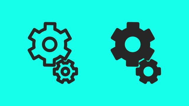 vidéos et rushes de gear icons - vector animate - rouage mécanisme