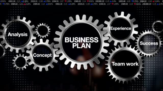 Gear keyword, Analysis, Teamwork, Experience, Concept, Success, touch 'BUSINESS PLAN'