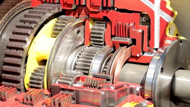 gear mechanism, close-up 4 video