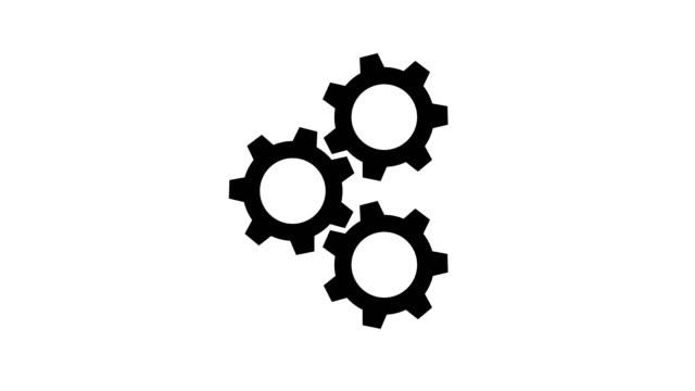 vidéos et rushes de jeu pignon travail rotation, graphique de proposition de résolution 4k - rouage mécanisme