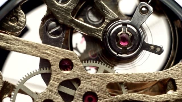 Gear wheel inside the clock mechanism watches video