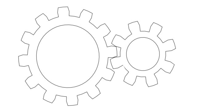 vidéos et rushes de roues dentées tournant. boucle transparente - rouage mécanisme