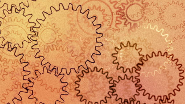 Gears, abstract background video