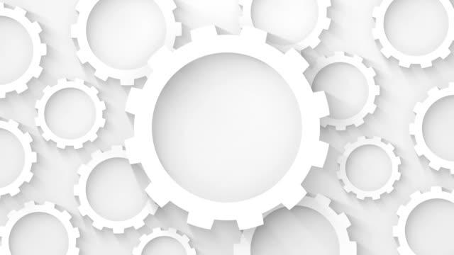 vidéos et rushes de engrenages abstrait animation boucle arrière-plan industriel - rouage mécanisme