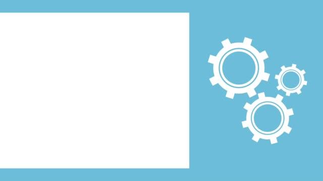 zahnradsymbol maschine arbeiten - zahnräder stock-videos und b-roll-filmmaterial