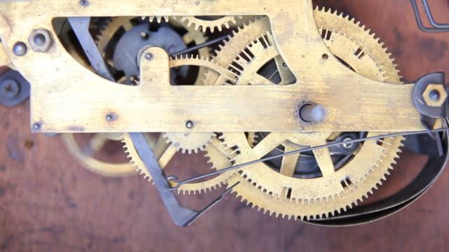 Gears of antique clocks.