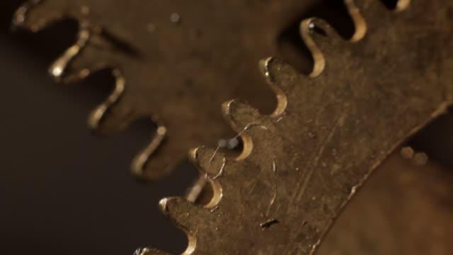 Gears roling mechanical clockwork video