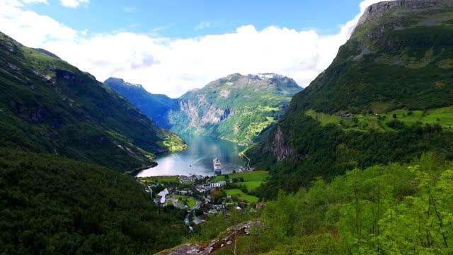Geiranger fjord, Norway. video