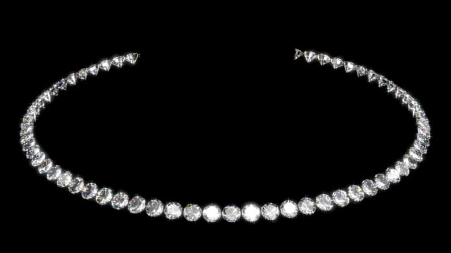 stockvideo's en b-roll-footage met gem stone necklace - halsketting