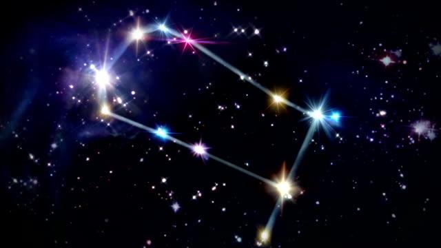 vídeos y material grabado en eventos de stock de 03 géminis horóscopos espacio en pista - constelación
