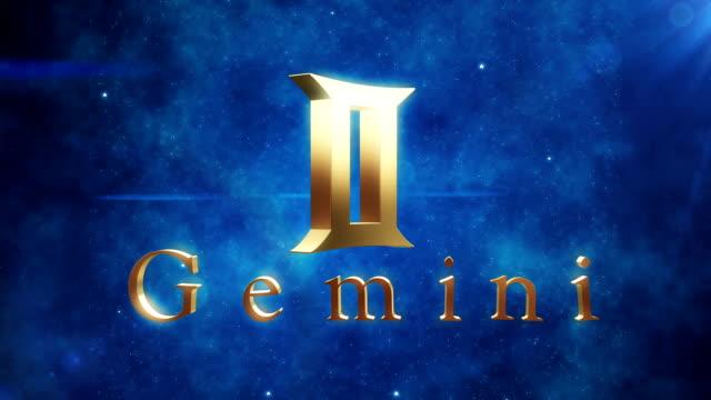 Gemini (Zodiac Air Signs) | Loopable video