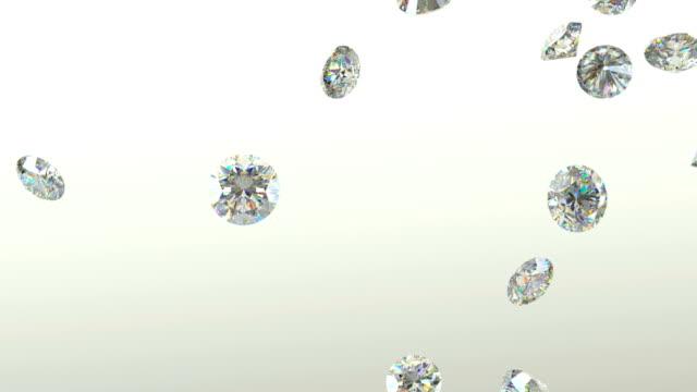 ädelstenar scatter och flyga bort över vit bakgrund med alpha - ancient white background bildbanksvideor och videomaterial från bakom kulisserna