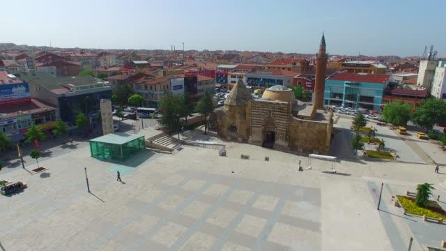 General aerial view of 'Cacabey' Mosque and courtyard/Kirsehir,TURKEY Kirsehir/Turkey 05/06/2016