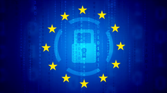 General Data Protection Regulation - GDPR motion background GDPR - General Data Protection Regulation motion background. Seamless loop. Video animation Ultra HD 4K 3840x2160 padlock stock videos & royalty-free footage